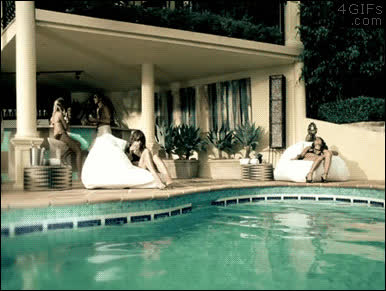 party, pool, funny pool party GIFs