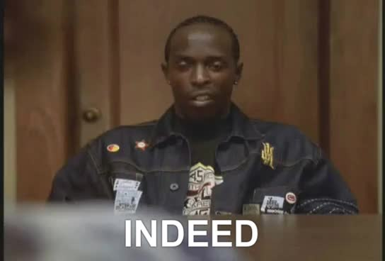 celebs, indeed, michael k. williams, omar, reaction, wire, yes, Indeed - Omar GIFs