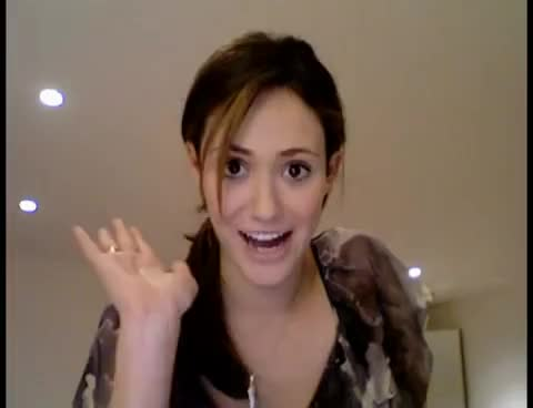 Watch and share Emmy Rossum GIFs and Waving GIFs on Gfycat