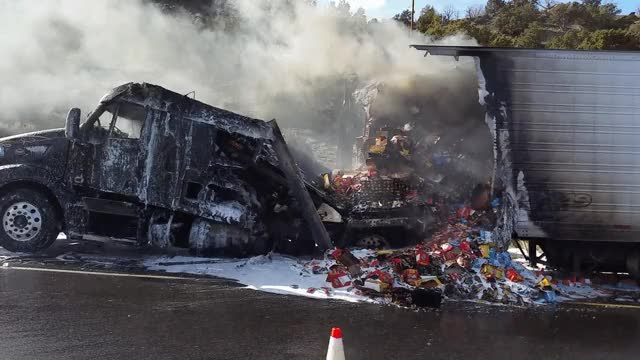 Watch and share Oreos, Crackers Destroyed In Truck Fire; No Injuries GIFs on Gfycat