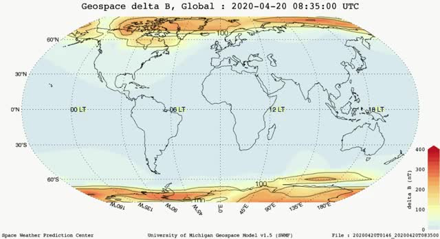 Watch and share Magnetic Perturbations Over The Globe - April 20, 2020 GIFs by The Watchers on Gfycat