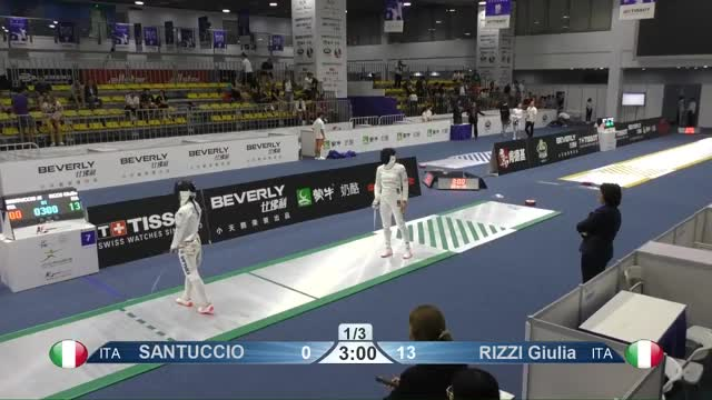 Watch SANTUCCIO 8 GIF by Scott Dubinsky (@fencingdatabase) on Gfycat. Discover more gender: female, leftname: SANTUCCIO, leftscore: 8, rightname: RIZZI Giulia, rightscore: 14, time: 00001140, touch: double, tournament: wuxi2018, weapon: epee GIFs on Gfycat
