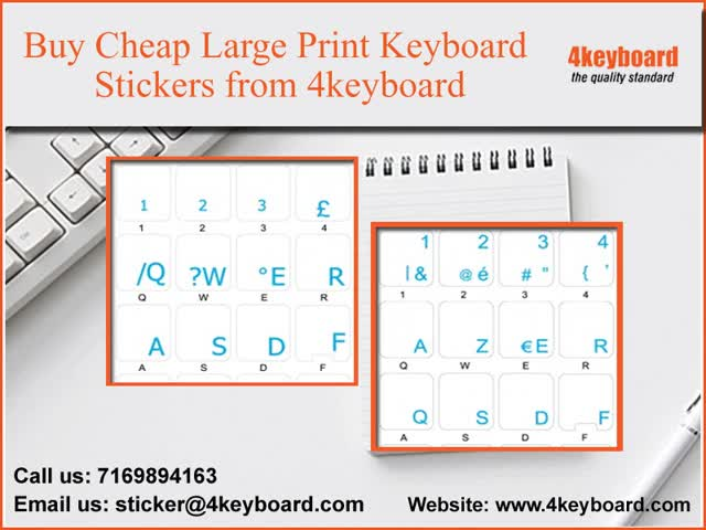Buy Cheap Large Print Keyboard Stickers from 4keyboard GIF