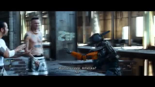 Watch Chappie: Daddy want to go to sleep? GIF on Gfycat. Discover more America, Ninja, ai, chappie, daddy, funny, go, knife, movie, robot, sleep, want, yo-landi GIFs on Gfycat