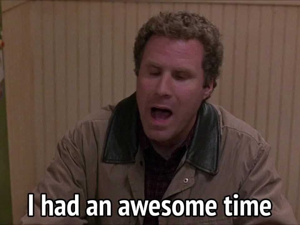celebs, will ferrell, Old School - I had an awesome time GIFs
