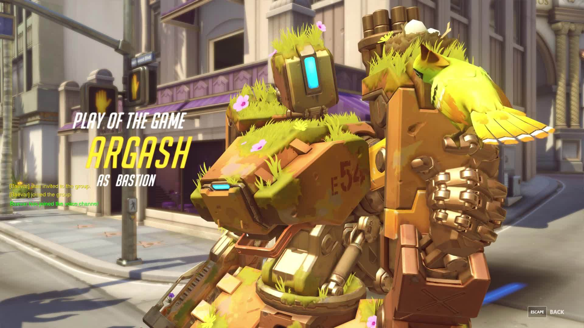 bastion, hollywood, overwatch, Feed me Seymour GIFs