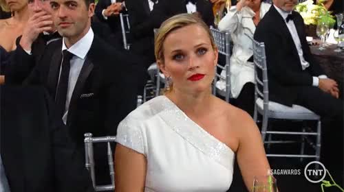 Watch Reese' GIF on Gfycat. Discover more Reese Witherspoon, SAG Awards, SAGAwards, Screen Actors Guild, Screen Actors Guild Awards, gif, my gif, reaction, reaction gif GIFs on Gfycat