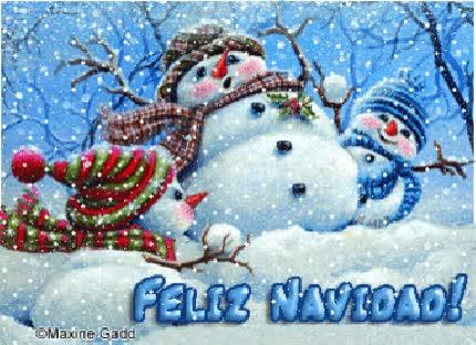 Watch and share Mu Ecos De Nieve Con Nieve Cayendo Feliz Navidad animated stickers on Gfycat