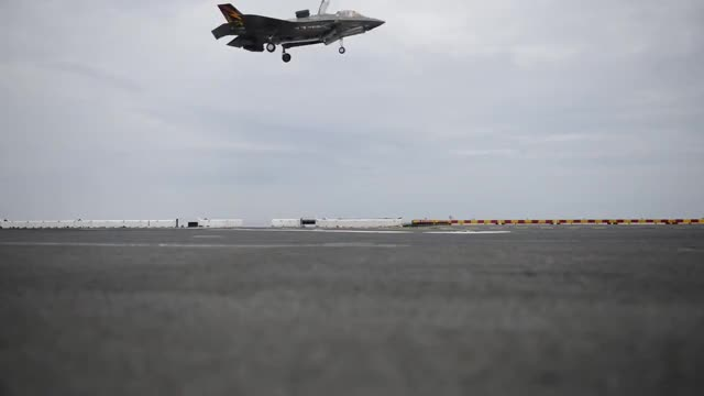 Watch F-35 landing on Wasp. (reddit) GIF by @forte3 on Gfycat. Discover more militarygfys GIFs on Gfycat