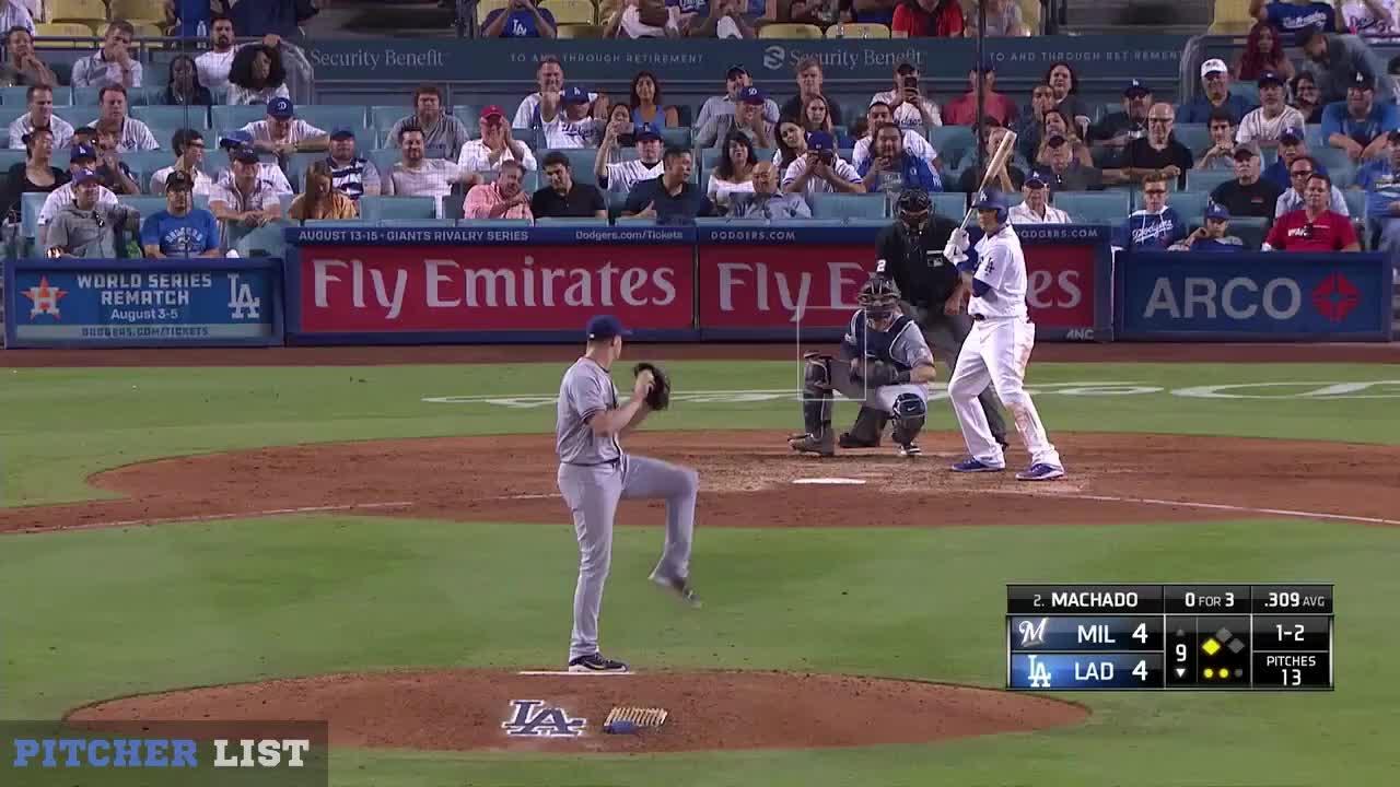 Milwaukee Brewers, baseball, Corey Knebel FB 8-1-18 GIFs
