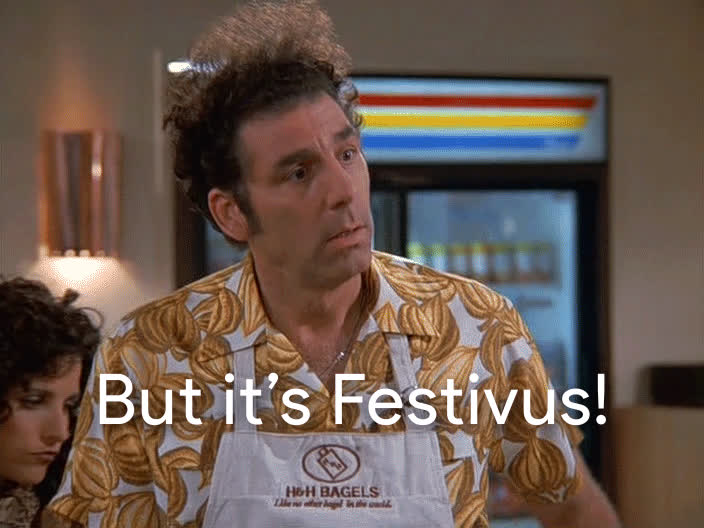 festivus, festivus for the rest of us, frank costanza, happy festivus, holiday, seinfeld,  GIFs