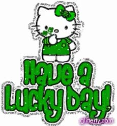 Watch and share St Pattys Lucky Day Kitty GIFs on Gfycat