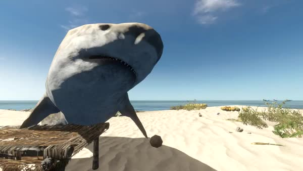"Watch [The Island] ""Guess it's time to prep this shark for dinner."" (reddit) GIF on Gfycat. Discover more gamephysics GIFs on Gfycat"