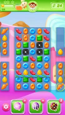 Watch and share Candy Crush Jelly Saga Level 121 No Boosters - Meet The Monklings! GIFs on Gfycat