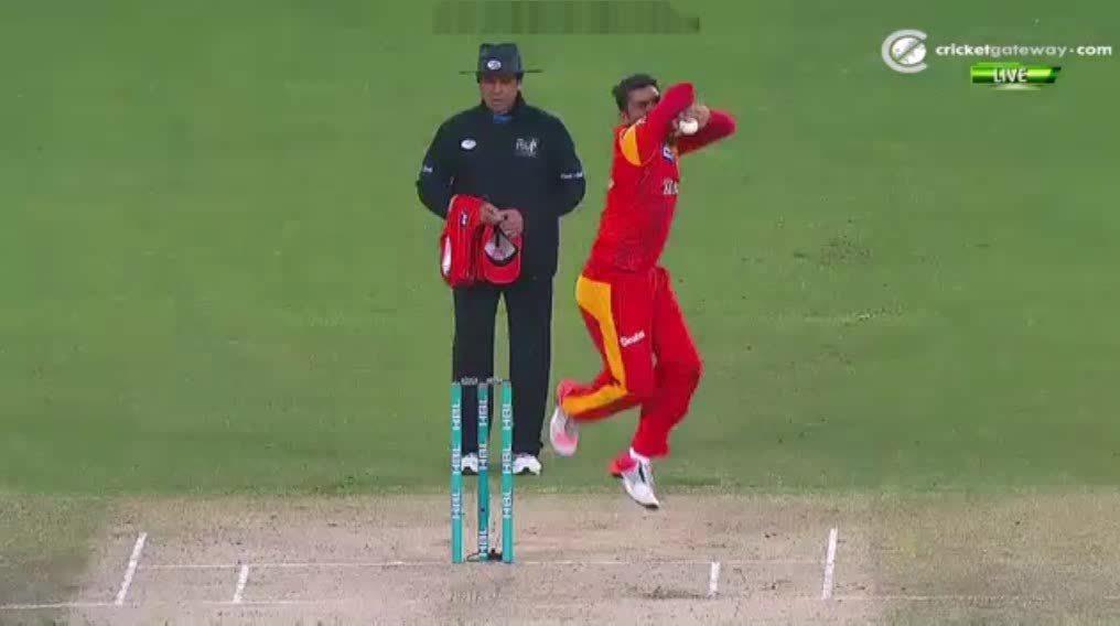 cricket, Aleem Dar dodges the 'umpire killer' (reddit) GIFs