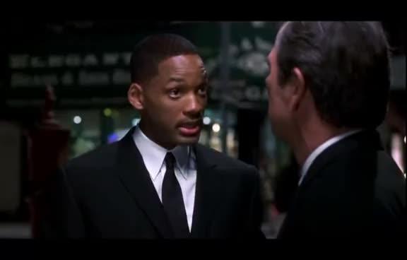 men in black, tommy lee jones, will smith, Men in Black II - Old Busted Hotness GIFs