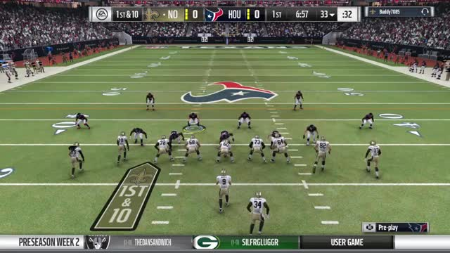 Watch and share RDUX PS-2 Saints At Houston - 1st Play TD GIFs by bdping on Gfycat