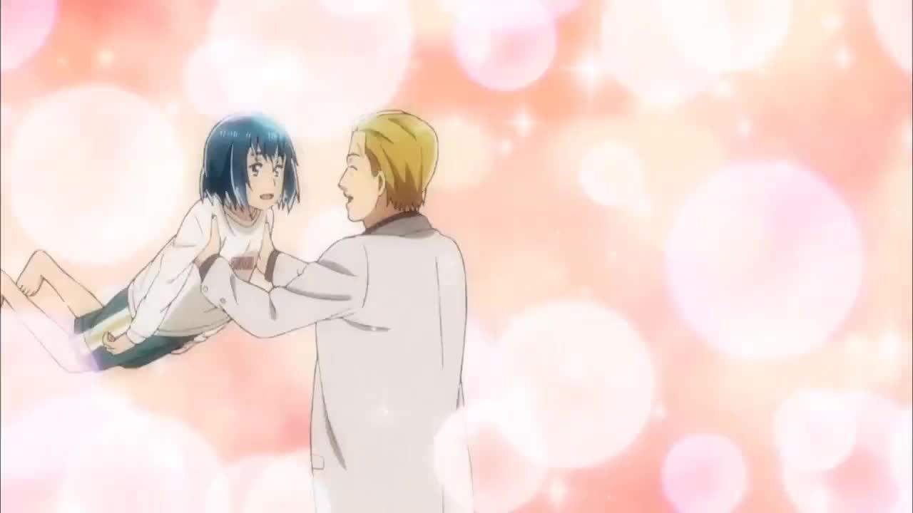 Manga, Nitta, anime, around, breaks, chan, date, funny, good, her, hina, hinamatsuri, job, leg, moment, spin, spinning, GOOD JOB - Hinamatsuri GIFs