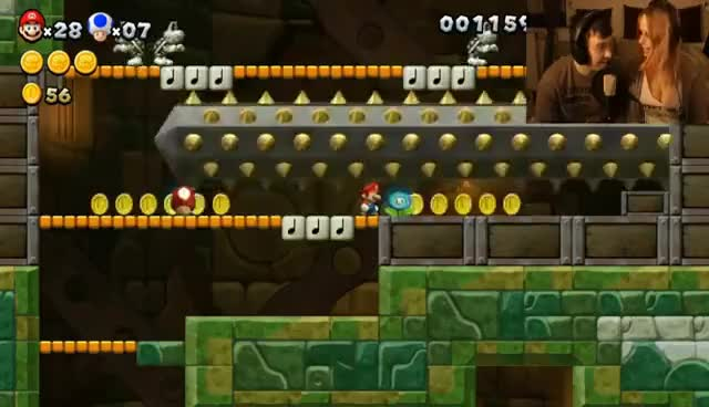 Let's Play Together New Super Mario Bros U Part 4 GIF | Find