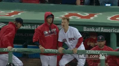 Watch and share Red Sox, Happy, Excited GIFs on Gfycat
