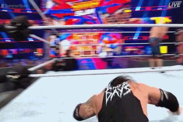 Watch and share Baron Corbin Chokeslam Backbreaker John Cena SummerSlam 2017 GIFs by Matthew Pack on Gfycat