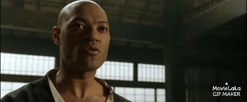 kungfu, morpheus, neo, Matrix - Morpheus and Neo Kung Fu Scene GIFs