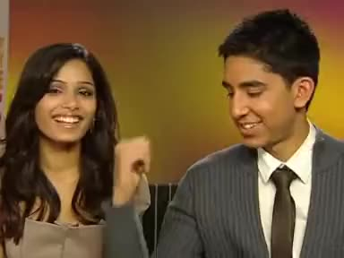 Watch and share Freida Pinto GIFs and Dev Patel GIFs on Gfycat