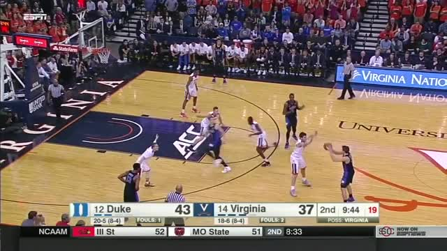 Watch and share Duke Blue Devils Vs Virginia Cavaliers Basketball 2017 (Feb. 15) GIFs on Gfycat