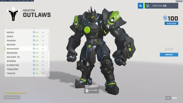 Watch and share Houston Outlaws Reinhardt Skin GIFs on Gfycat
