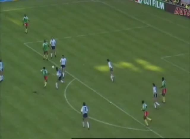 Watch Caniggia vs. Cameroon GIF on Gfycat. Discover more 1990, Blochin, Cameroon, Caniggia, Cup, Fouls, Sports, World GIFs on Gfycat