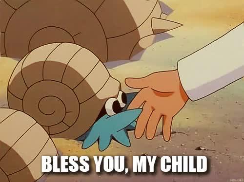 helix, lord, pokemon, tpp, twitchplayspokemon, Lord Helix - Bless you, my child GIFs