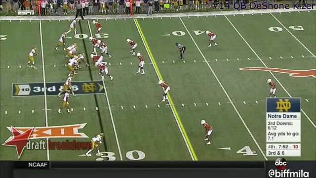 Watch and share DeShone Kizer (Notre Dame) Vs. Texas (2016) GIFs by iwxn33d on Gfycat