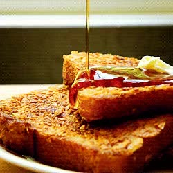 Watch and share Food Breakfast Food Porn Syrup French Toast GIFs on Gfycat