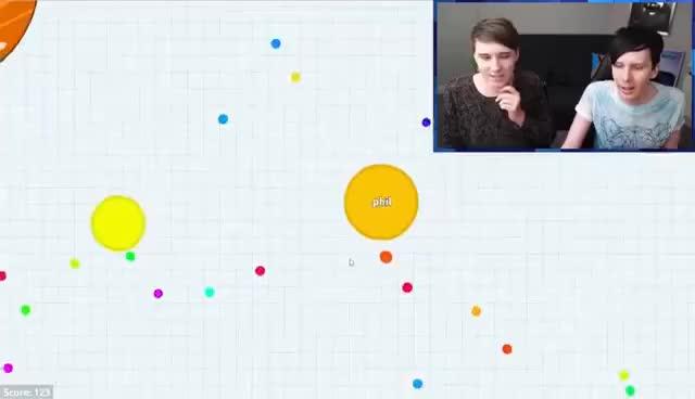 Watch and share Dan Vs. Phil - Agar.io GIFs on Gfycat