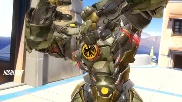 Watch and share Overwatch GIFs and Reinhardt GIFs by hiddenpant on Gfycat
