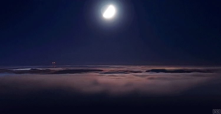 gfycats, Moon and cloudlapse (reddit) GIFs
