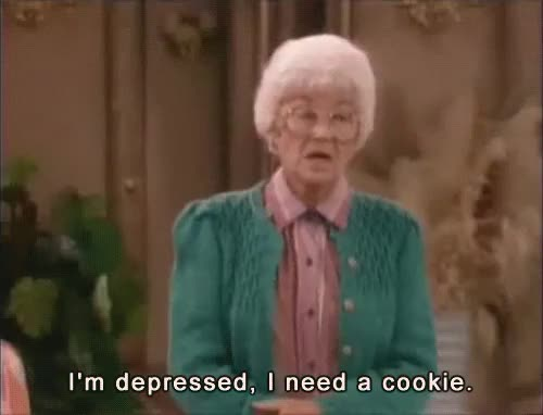 Watch and share Depressed GIFs and Cookies GIFs on Gfycat