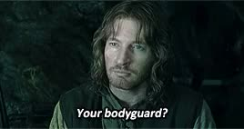 Watch - Your bodyguard?- His gardener. GIF on Gfycat. Discover more David Wenham, edits, faramir, frodo baggins, lord of the rings, lotredit, samwise gamgee, tolkien, tolkienedit GIFs on Gfycat
