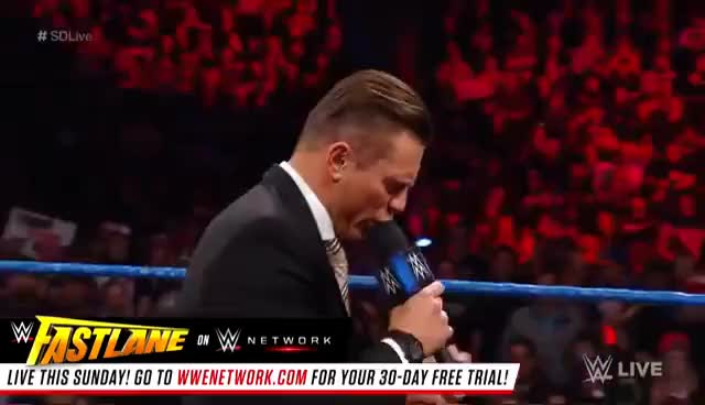 """Watch and share John Cena And The Miz Engage In A War Of Words On """"Miz TV"""": SmackDown LIVE: Feb. 28, 2017 GIFs on Gfycat"""