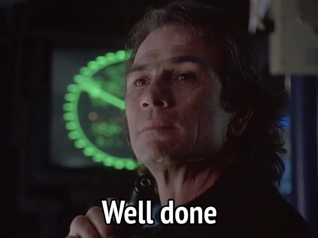 Watch this well done GIF by MikeyMo (@mikeymo) on Gfycat. Discover more good job, tommy lee jones, under siege, well done GIFs on Gfycat