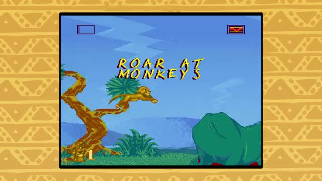 Watch and share Disney Classic Games: Aladdin And The Lion King Roar At Monkeys GIFs by HighPingGaming.com on Gfycat