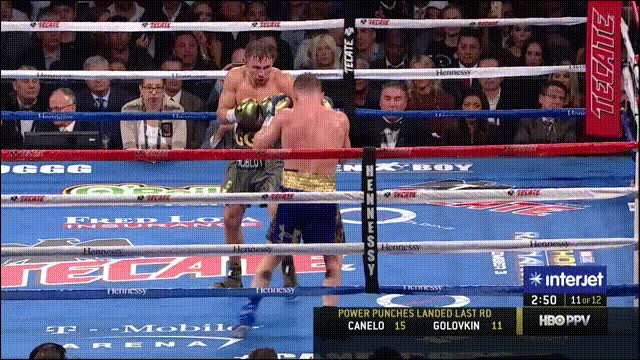 Watch Canelo punches round 11 GIF on Gfycat. Discover more related GIFs on Gfycat