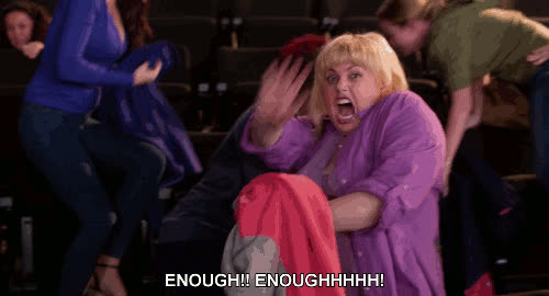 enough, rebel wilson, Enough GIFs