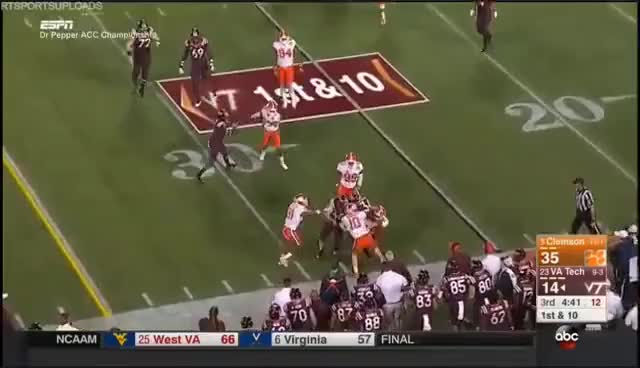 Watch Clemson Tigers at Virginia Tech Hokies in 30 Minutes - 12/3/16 GIF on Gfycat. Discover more related GIFs on Gfycat
