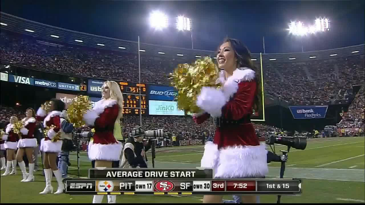 christmas, football, San Francisco 49ers cheerleaders GIFs