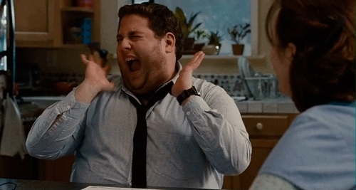 Jonah hill super excited! GIFs