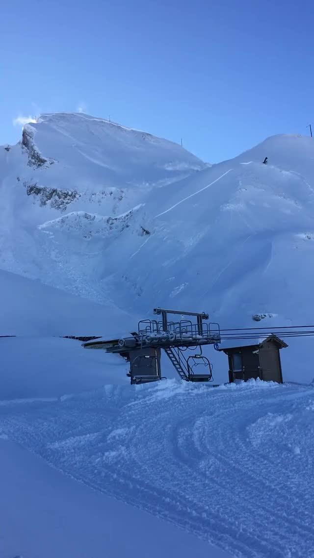 Avalanche at  La Clusaz, France