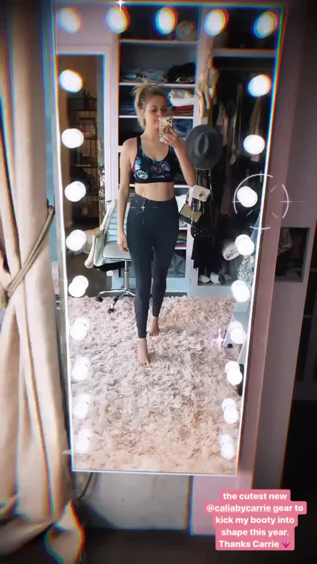 Kelsea Ballerini showing off her tight little body in sexy workout outfit video
