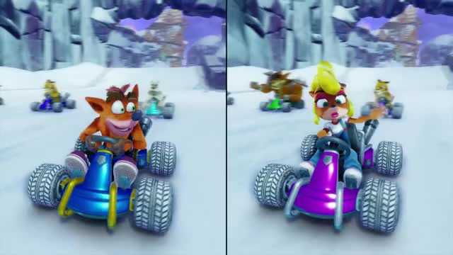 Watch Crash Team Racing: Nitro Fueled -- split screen race GIF on Gfycat. Discover more Activision, Beenox, Crash Team Racing, Crash Team Racing: Nitro Fueled, GamesBeat, Gaming, VentureBeat GIFs on Gfycat