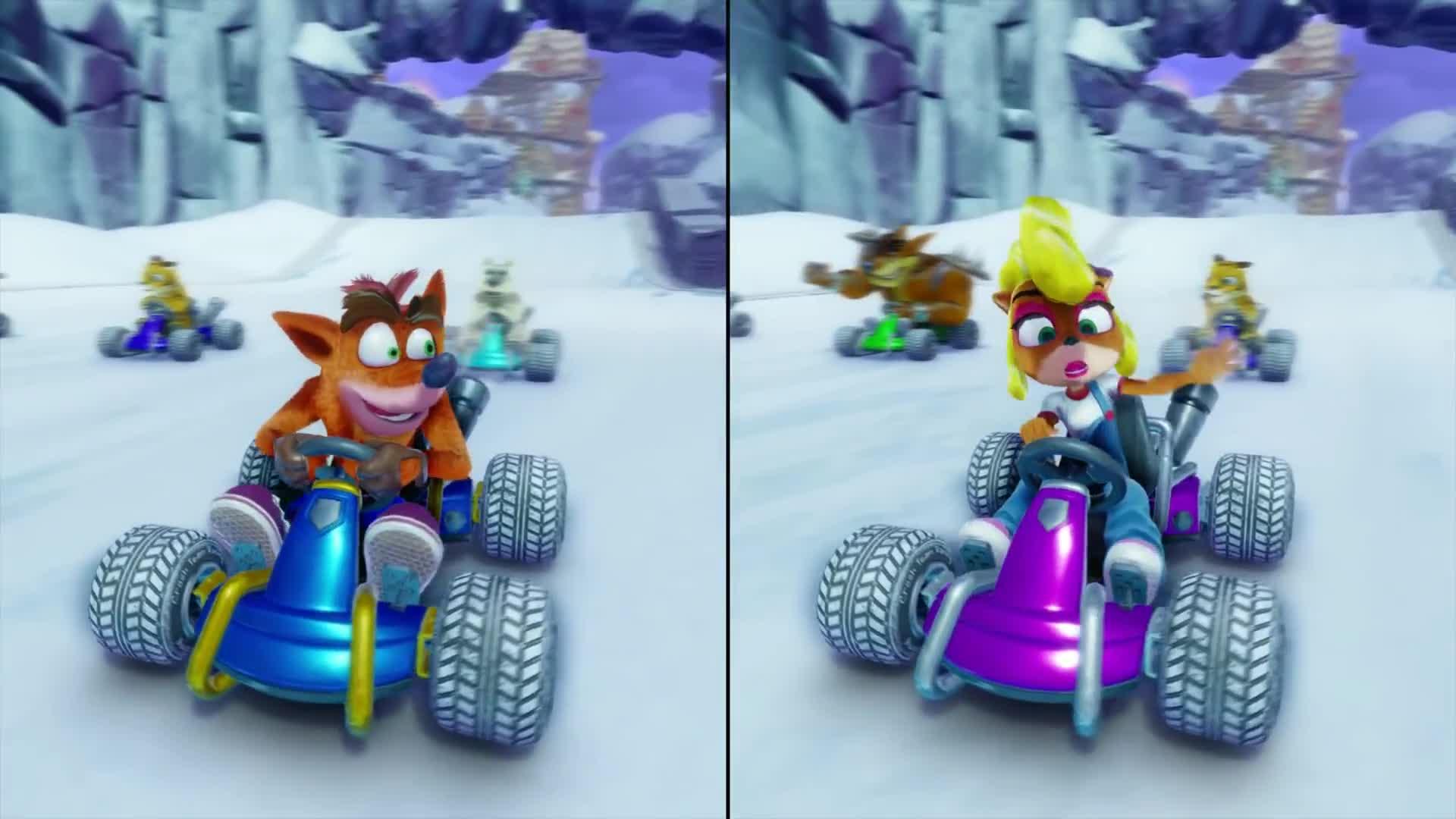 Crash Team Racing Nitro Fueled Split Screen Race